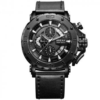 Годинники чоловічі наручні електронні кварцові водонепроникні Break Watch 5690 Чорні