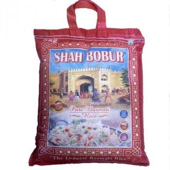 Рис басматі пропарений Shah Bobur Pure Basmati Rice 5 кг