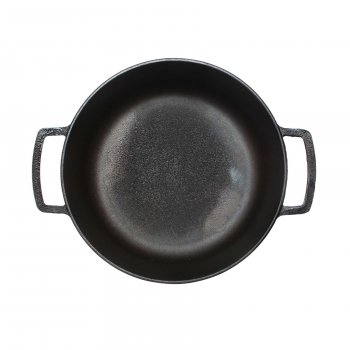 Каструля чавунна з чавунною кришкою 6л