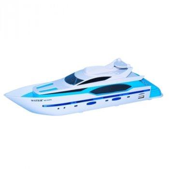 Портативная беспроводная колонка в виде яхты, голубая
