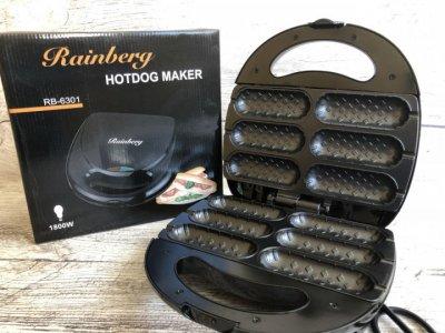 Електрогриль для хот догів Rainberg RB 6301 Hot Dog Maker 1800W