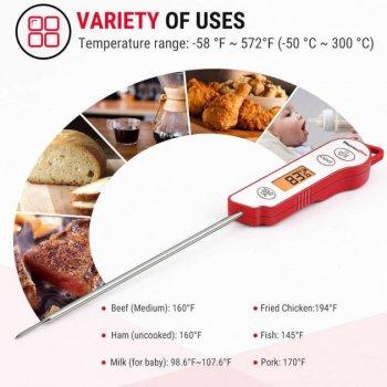 Термометр для мяса ThermoPro TP-15 (от -50 до 300 ºC) со щупом из нержавеющей стали в водонепроницаем корпусе