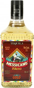 Текила Messicano Gold 1 л 38% (652341406012)