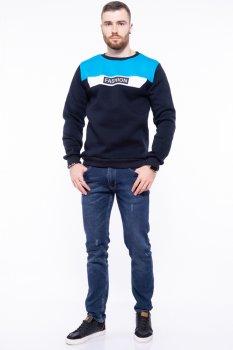 Світшот на флісі Fashion Time of Style 85F163 Чорнильно-блакитний