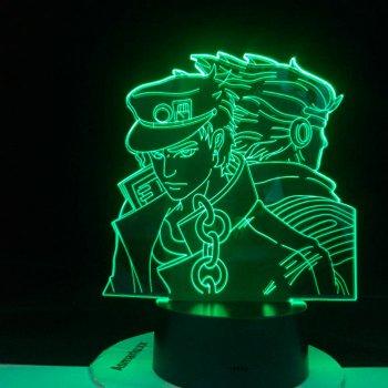 Настільний світильник-нічник ДжоДжо 2 JoJo - JoJo's Bizarre Adventure настільна 3D Лампа 16 Кольорів (USB 8084)