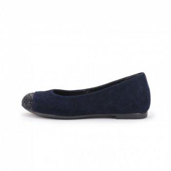 Балетки сині з глітером на носку для дівчинки Miracle-me Синій