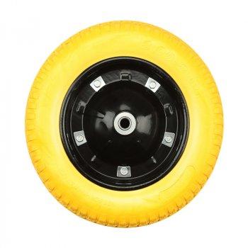 Колесо на тачку Budmonster полиуретановое 3.0х8, o/d-16 арт. 01-030/1 модель 01-027 (56756)