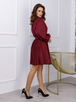 Платье ISSA PLUS 12297 Бордовое