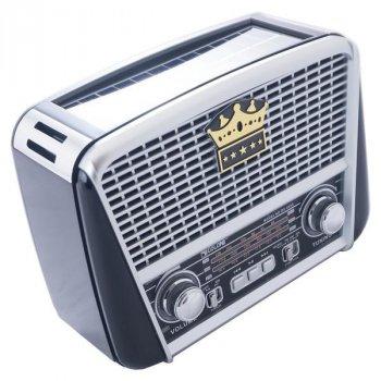 Портативный аккумуляторный Ретро Радиоприемник GoVern RX-455S (Golon) Black