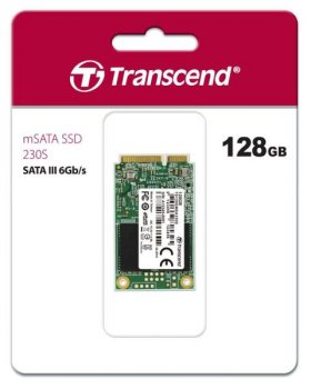 SSD накопитель mSATA Transcend 230S 128GB 3D TLC (TS128GMSA230S)