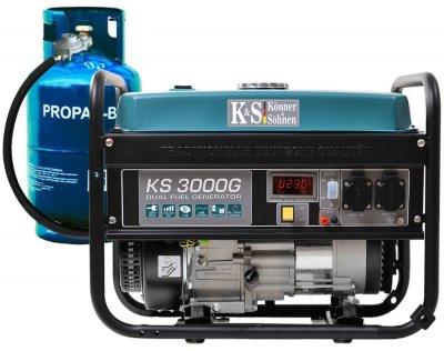 Генератор газобензиновый Konner&Sohnen с ручным запуском (KS 3000G)