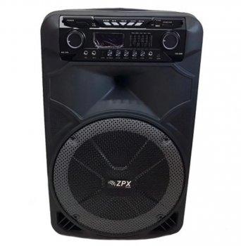 Професійна акумуляторна акустична система ZPX зі світломузикою і бездротовим мікрофоном (ZX-7766)