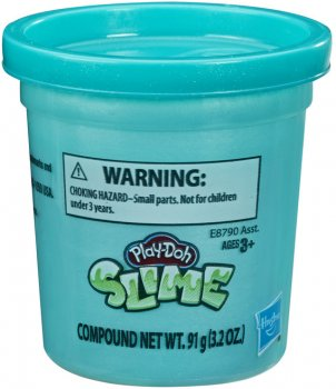 Баночка Slime Hasbro Play-Doh Металлик Бирюзовая (E8790_E8807) (271871031)