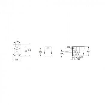 Унитаз напольный DEVIT Afina с сиденьем Soft Close дюропласт (3030150)
