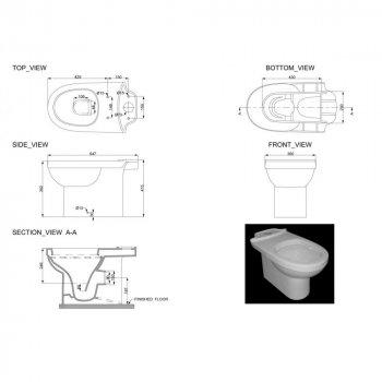 Унитаз-компакт DEVIT Smart с бачком и сиденьем Soft Close дюропласт (3010146)