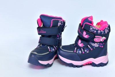 Сапоги fashion Сине-розовые (6876)