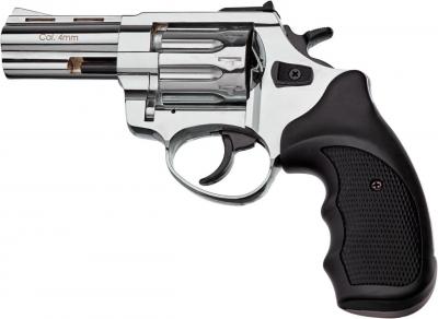 """Револьвер флобера STALKER 3"""" 4 мм Никель. Пластик черный"""