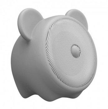 Портативна акустика Baseus Q E06 Zodiac Bluetooth Ведмедик Світло-сіра (NGE06-0G)