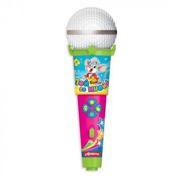 Микрофон пой со мной Азбукварик Любимые песенки малышей 6 х 19 х 6 см (4680019281599)
