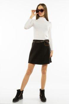 Спідниця з імітацією кишені Time of Style 207P919 Антрацит