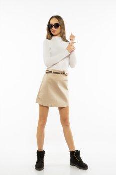 Спідниця з імітацією кишені Time of Style 207P919 Бежевий