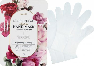Укрепляющая маска-перчатки для рук Koelf Rose Petal Satin Hand Mask 16 г (8809508850733)