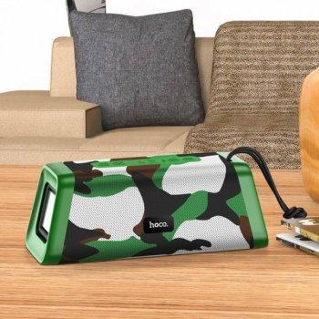 Портативна Bluetooth колонка Hoco BS35 Classic sound sports Camouflage Green