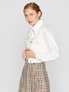 Джинсова куртка Stradivarius 05742817004 Біла