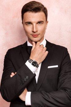 Мужской костюм VEK Е15022 черный