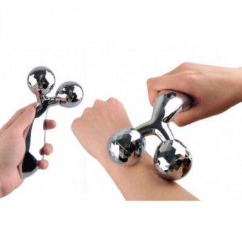 Ручний масажер 3D Massager для обличчя і тіла ліфтинговий, модель ZL - 201 з ABS-пластик з алюмінієвим сплавом срібний (1415900326)