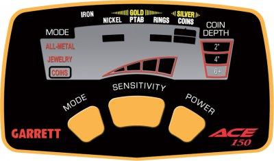 Металлоискатель Garrett ACE 150 + Защита на панель управления