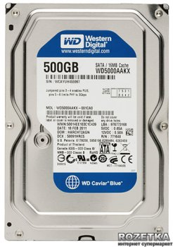 Жесткий диск Western Digital Blue 500GB 7200rpm 16MB WD5000AAKX 3.5 SATAIII