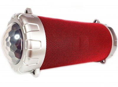 Портативная беспроводная Bluetooth стерео колонка Bazuka SPS S07 с цветомузыкой Красная (S07 Red)