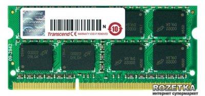 Оперативная память Transcend SODIMM DDR3-1600 4096MB PC3-12800 (JM1600KSN-4G)