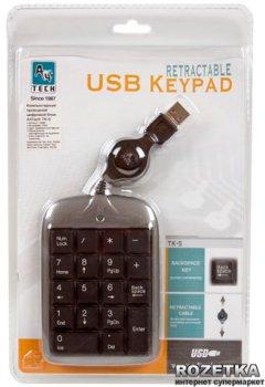 Клавіатура дротова A4Tech TK-5 USB (4711421700689)
