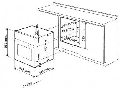 Духовой шкаф газовый GUNTER&HAUER EOG 603 B