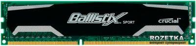 Оперативная память Crucial DDR3-1600 8192MB PC3-12800 Ballistix Sport (BLS8G3D1609DS1S00CEU)