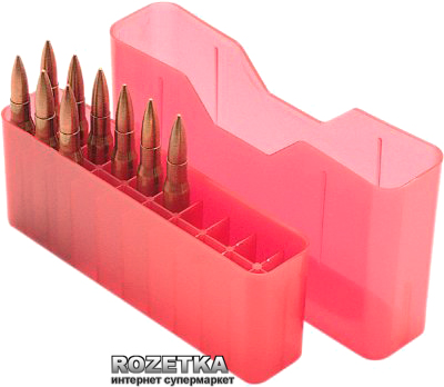 Коробка МТМ J-20-XS для патронів 223 Rem 20 шт. Червоний (17730482)