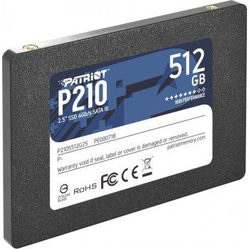 """Накопичувач SSD 2.5"""" 512GB Patriot (P210S512G25)"""