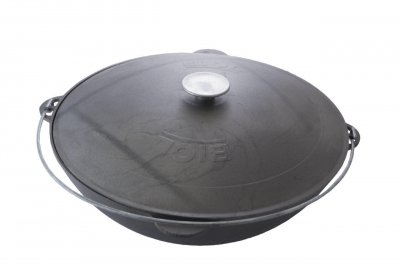 Казан чавунний Біол - 450 мм x 15 л татарський з кришкою (0915)