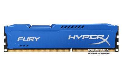 Оперативна пам'ять HyperX DDR3-1866 16384MB PC3-14900 (Kit of 2x8192) FURY Blue (HX318C10FK2/16)