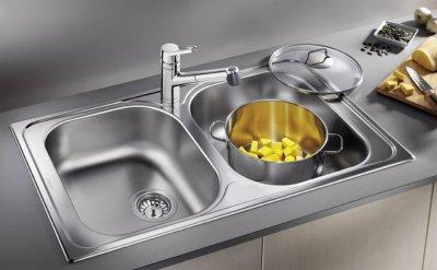 Кухонна мийка BLANCO TIPO 8 Compact (513459) + зливний гарнітур (214301)