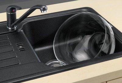 Кухонная мойка BLANCO FAVOS mini (518186) антрацит + сливной гарнитур (224660)