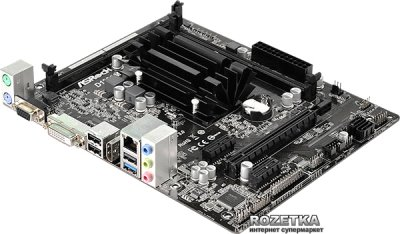 Материнская плата ASRock D1800M (Intel Dual-Core J1800, SoC, PCI-Ex16)