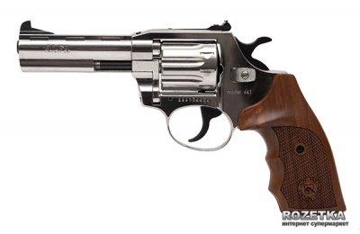 """Револьвер Alfa мод 441 4"""" (никель, дерево) 144919/2 (14310049)"""