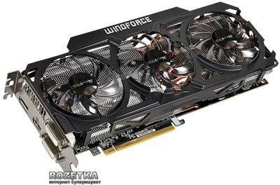 Gigabyte PCI-Ex Radeon R9 290X 4096MB GDDR5 (512bit) (1000/5000) (2 x DVI, HDMI, DisplayPort) (GV-R929XWF3-4GD)