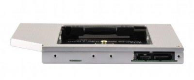 """Адаптер під'єднання Gembird SSD 2.5"""" у відсік привода ноутбука SATA 12.7 мм (A-SATA12M2-01)"""