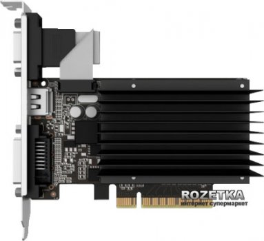 Palit PCI-Ex GeForce GT 730 2048MB DDR3 (64bit) (902/1800) (VGA, DVI, HDMI) (NEAT7300HD46-2080H)