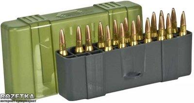 Коробка Plano Count Large Rifle для патронів 20 шт. Зелена (1230-20)