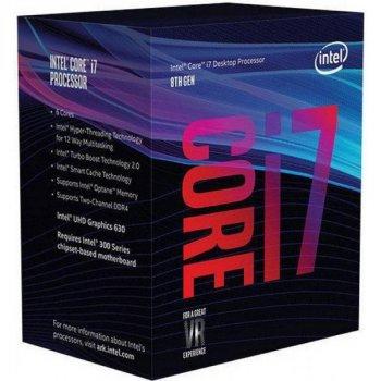 Процесор CPU Core i7-8700 6 cores 3,20 Ггц-4,60 Ghz/12Mb/s1151/14nm/65W (BX80684I78700) s1151 BOX